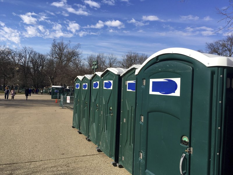 Portable Toilet Names Covered For Inauguration