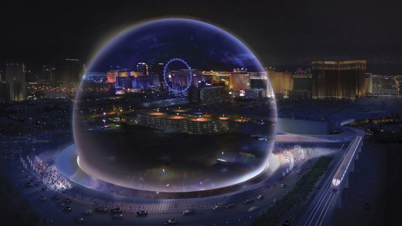 This Conceptual Rendering Released By Madison Square Garden Shows A  Transparent Look Theme Exterior Of The MSG Sphere Las Vegas Arena.