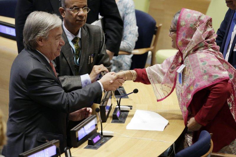 Sheikh Hasina Wazed, Antonio Guterres