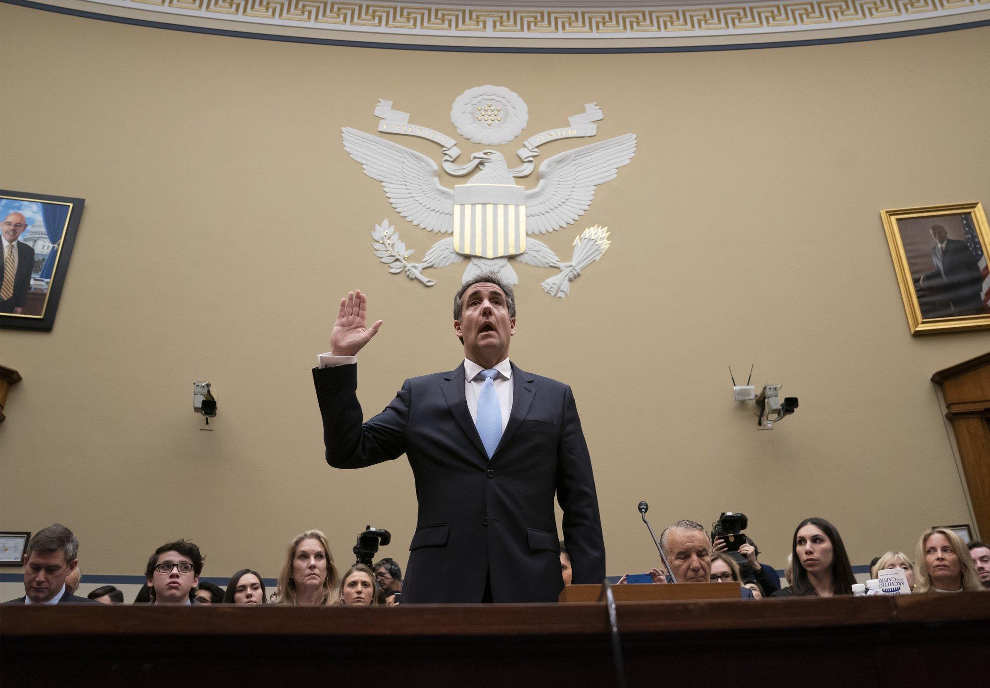 'Racist,' 'con man': Cohen assails Trump before Congress