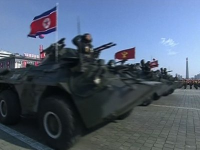 Raw: NKorea Holds Pre-Olympic Military Parade
