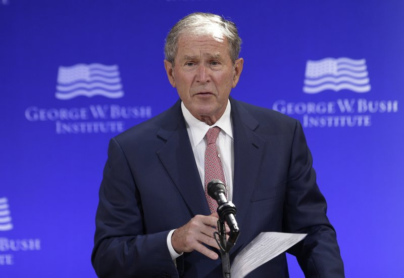 George W Bush takes swipe at Russia over election 'meddling'