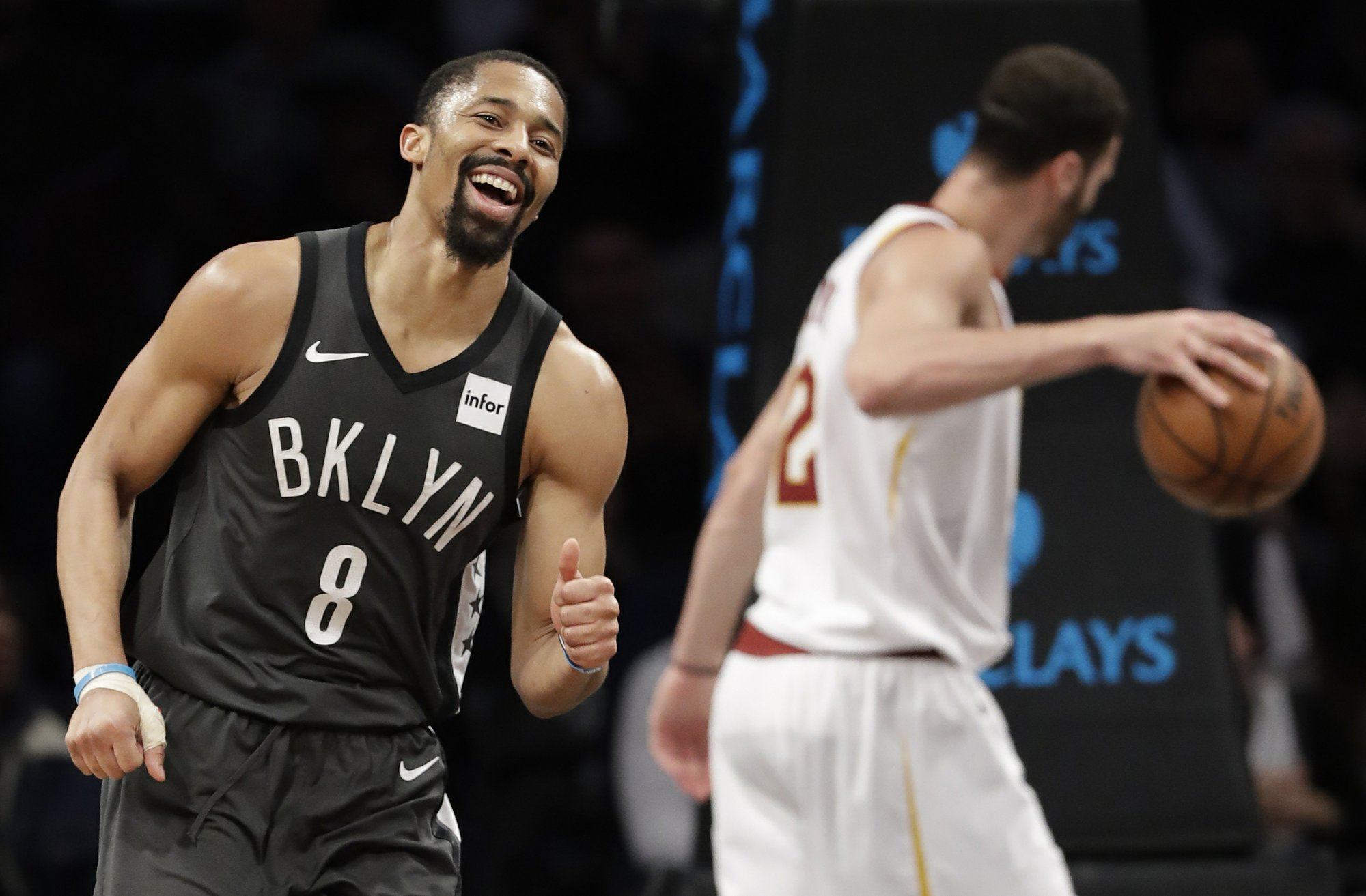 ae72e9a8762f Dinwiddie leads Nets in 4th as they beat Cavs 113-107