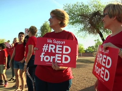 Arizona Teachers Protest For Better Pay