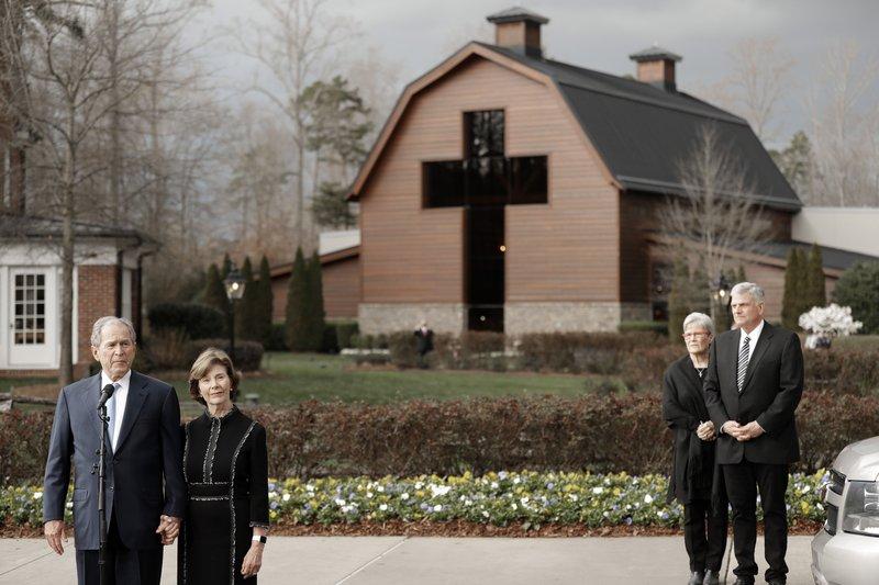George W. Bush, Laura Bush, Franklin Graham, Jane Graham
