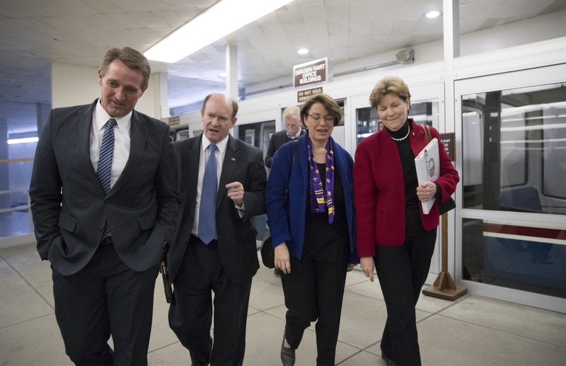 Jeff Flake, Amy Klobuchar, Chris Coons, Jeanne Shaheen, Angus King