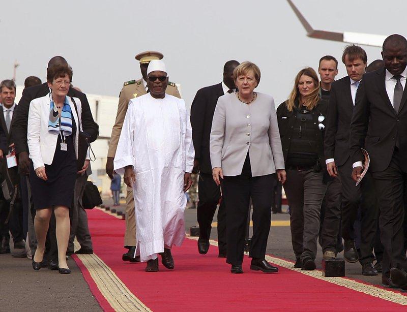 Ibrahim Boubacar Keita, Angela Merkel