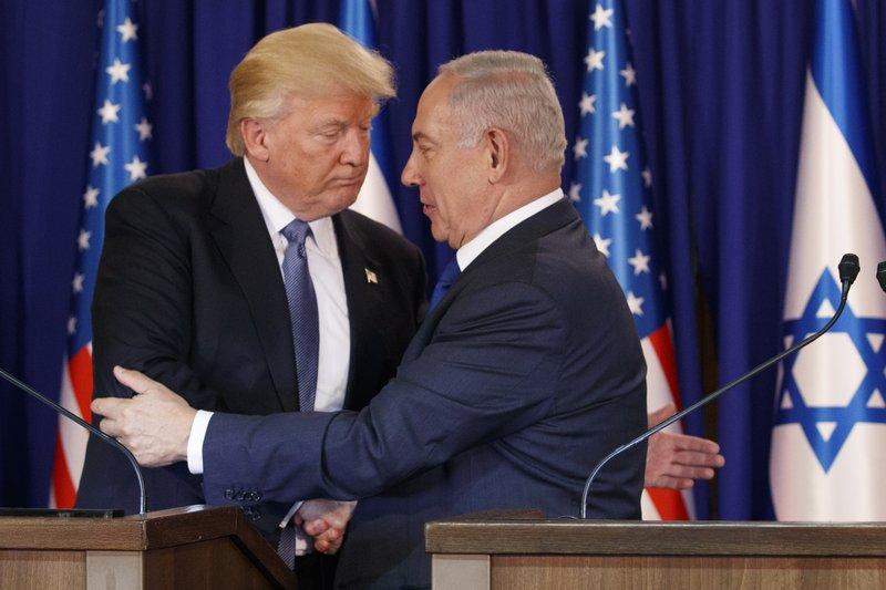 Donald Trump, Melania Trump, Benjamin Netanyahu