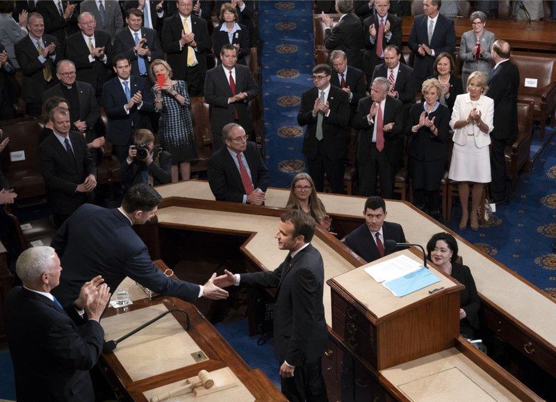 Emmanuel Macronm Mike Pence, Paul Ryan