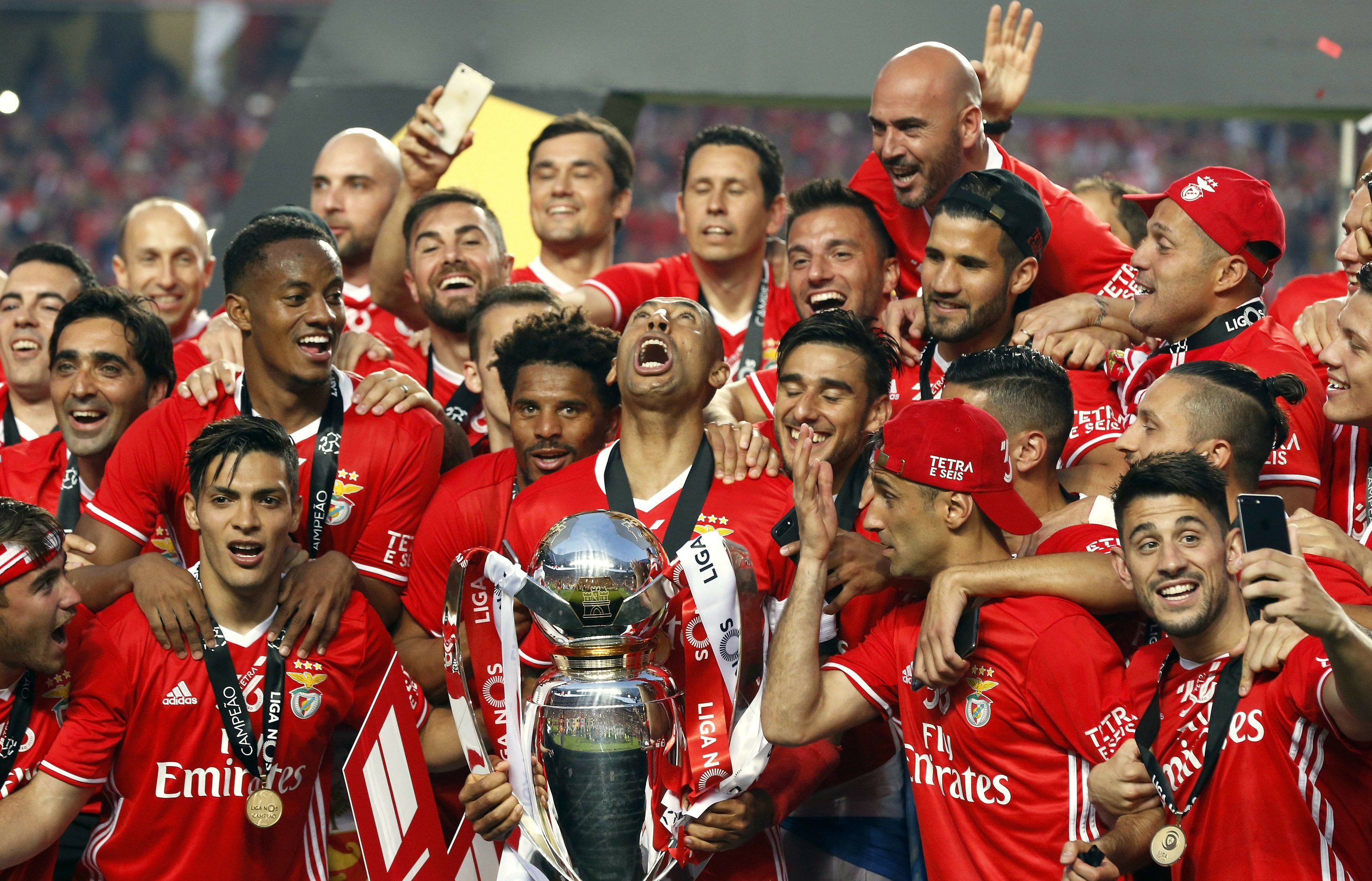 Image result for Benfica win trophy