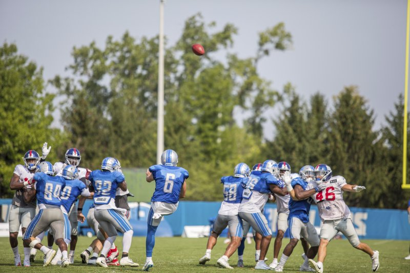 Detroit Lions punter Sam Martin (6) during training camp practice on  Tuesday 406d985bf