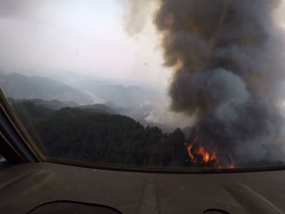 National Guard Fights California Wildfire
