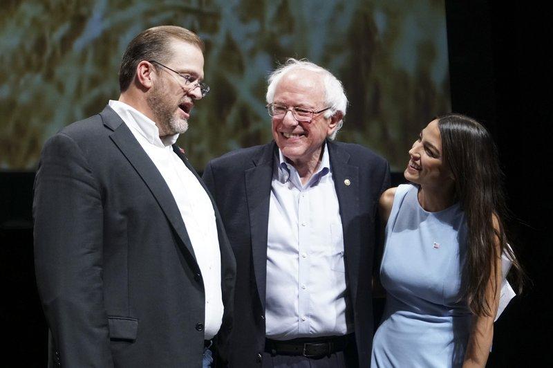 James Thompson, Bernie Sanders, Alexandria Ocasio-Cortez