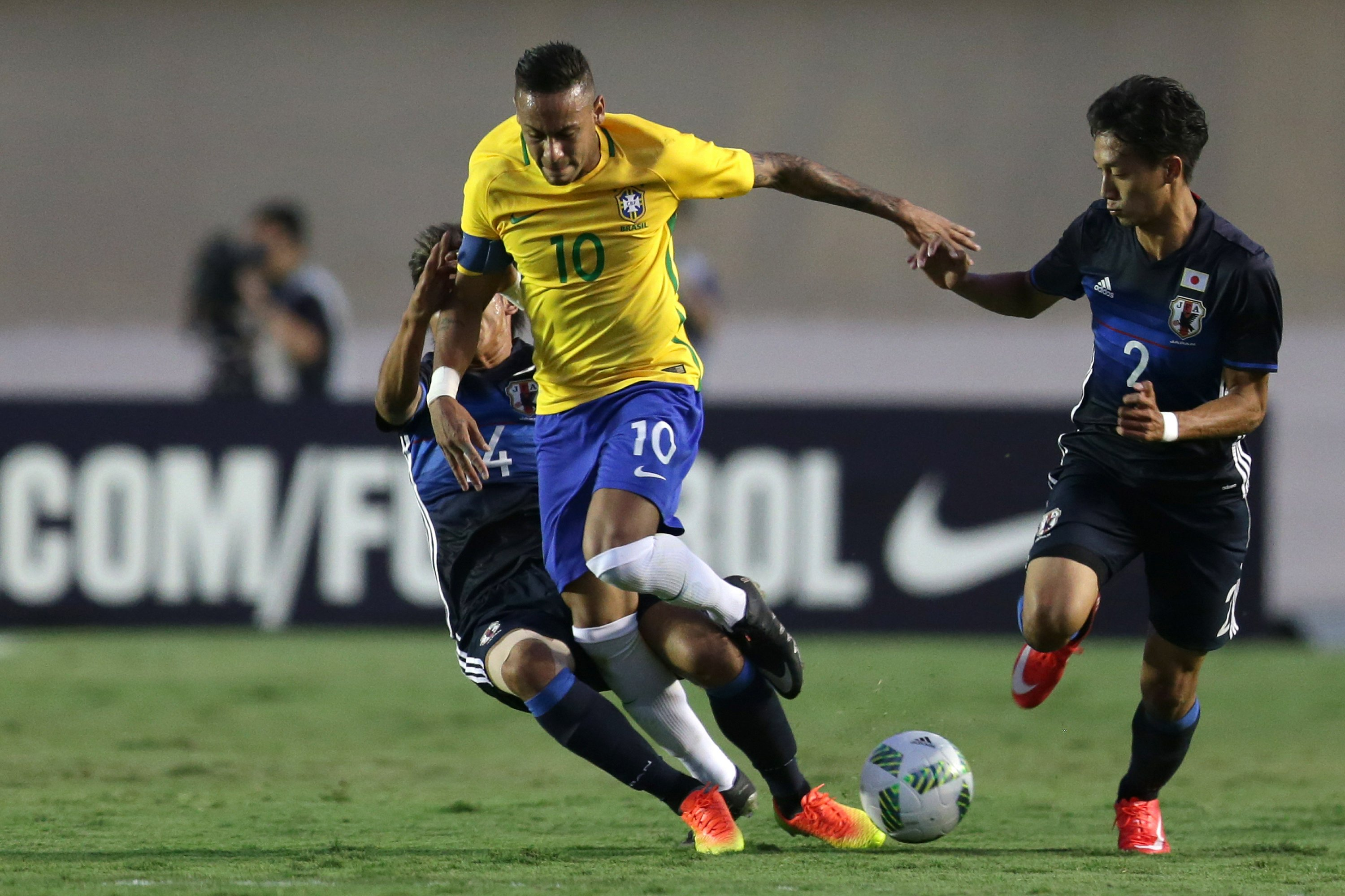 The Latest: Brazil replaces goalkeeper after injury