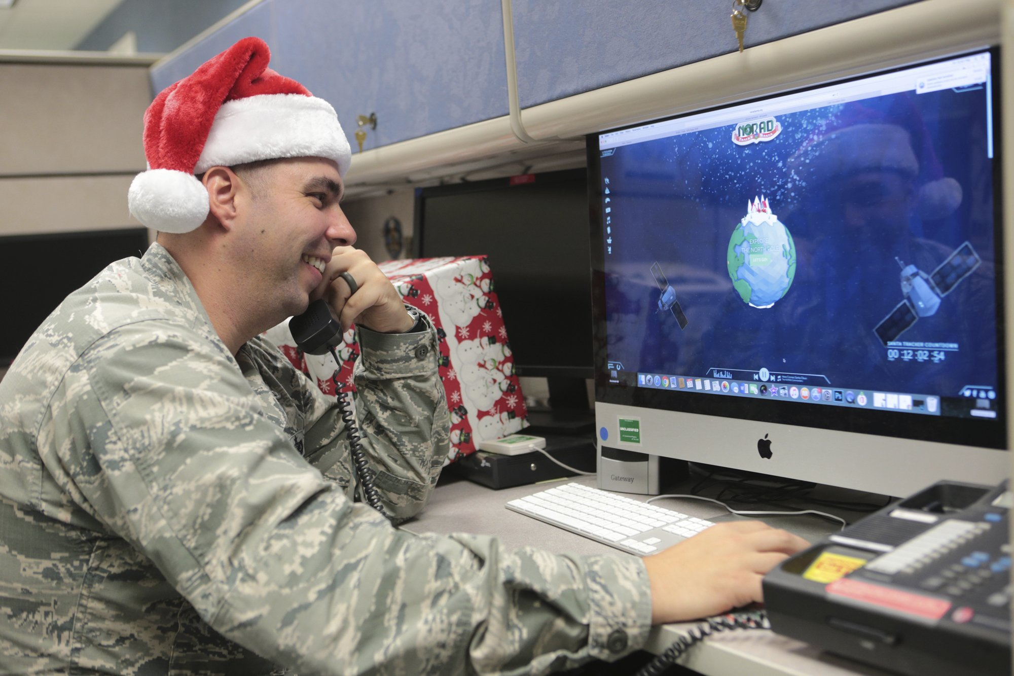 Military helping kids follow Santa's fabled flight