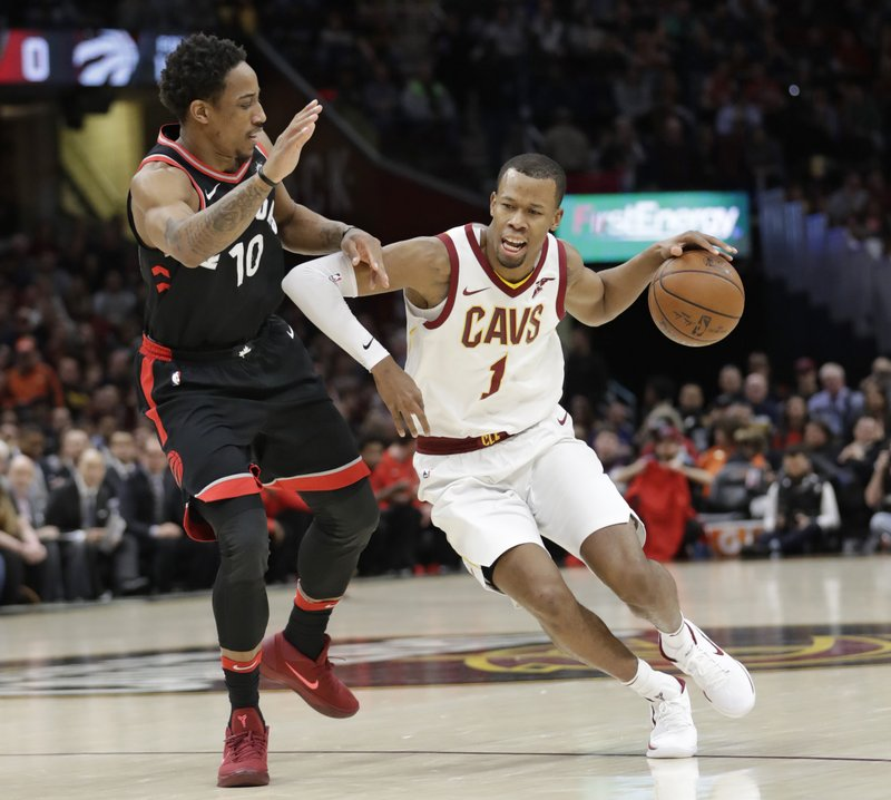 Raptor resorts to cheap shot as Cavs run riot