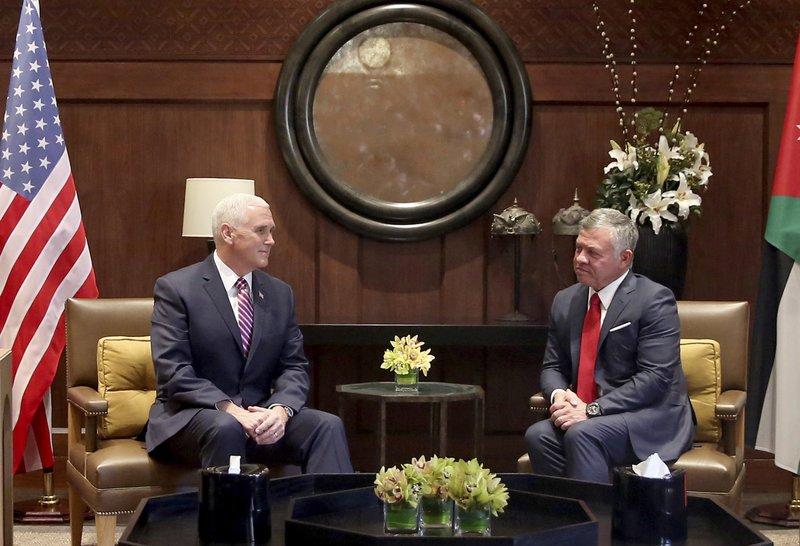 Abdullah II, Mike Pence