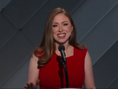 Chelsea Clinton Takes Stage To Introduce Her Mom