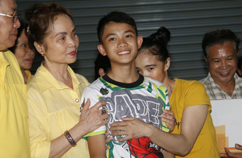 Thai boys recount cave rescue: Voices in dark, then 'hello'