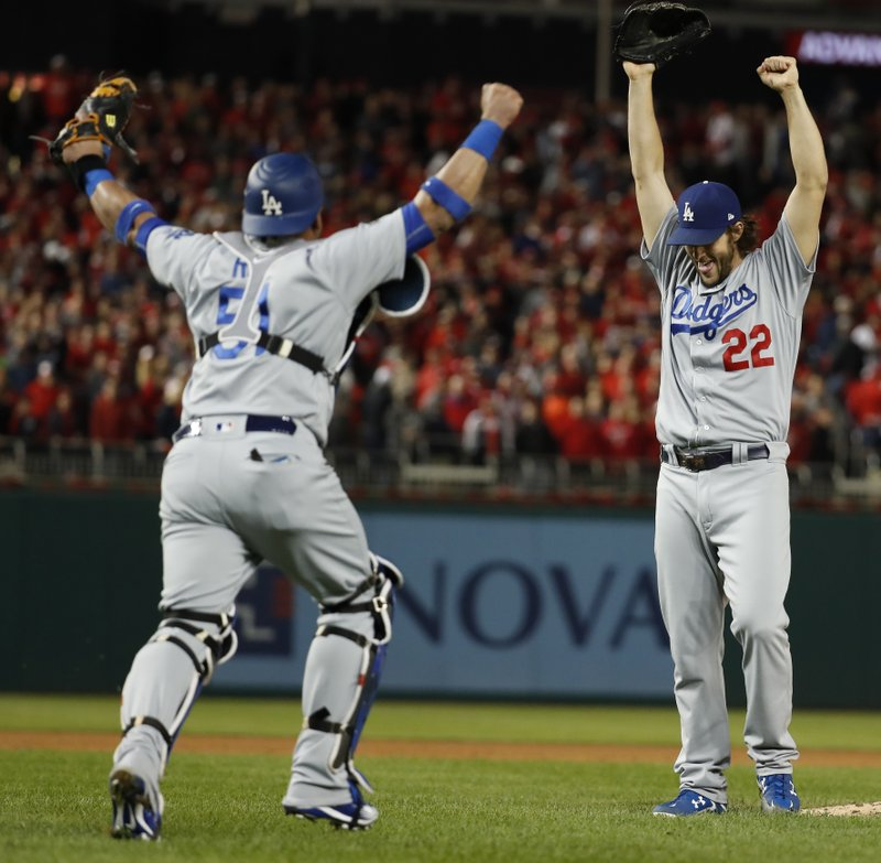 Kershaw gets save, LA tops Nats 4-3 to win NLDS