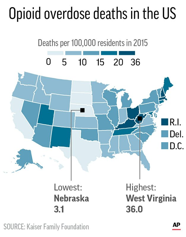 OPIOID DEATHS MAP