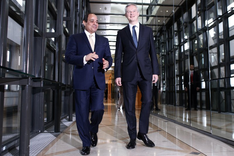 Abdel-Fattah el-Sissi, Bruno Le Maire
