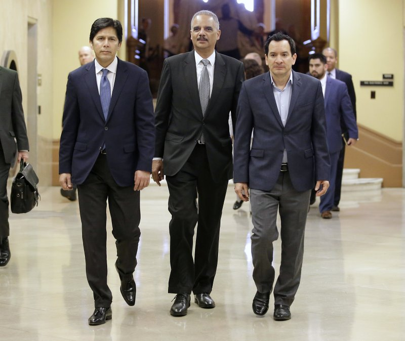 Eric Holder, Kevin de Leon, Anthony Rendon