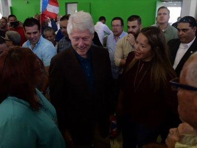 Former President Bill Clinton Visits Puerto Rico