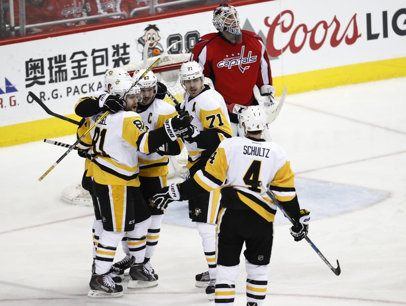 Phil Kessel, Patric Hornqvist, Sidney Crosby, Braden Holtby, Justin Schultz