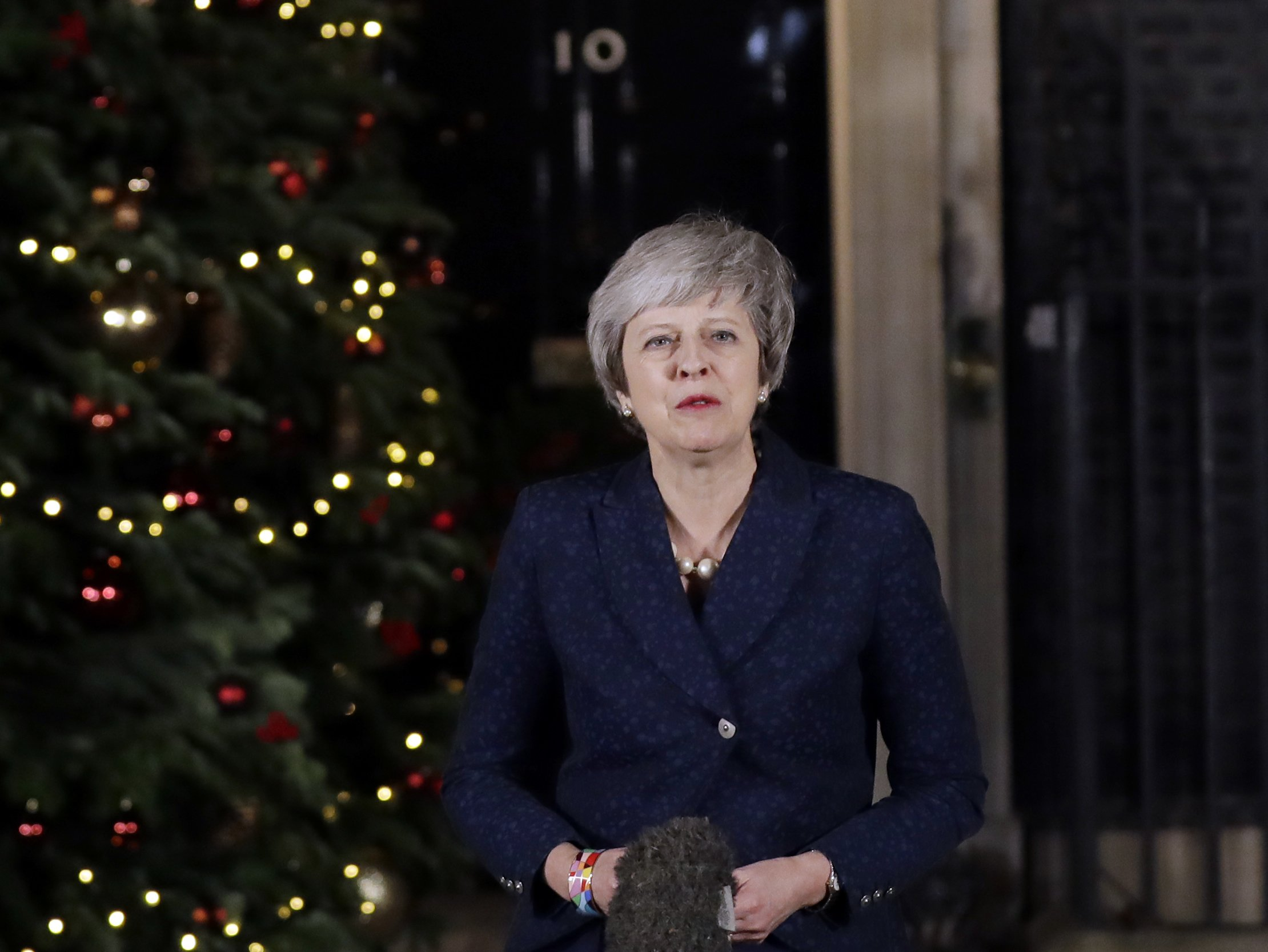 The Latest: May says change of leader would delay Brexit