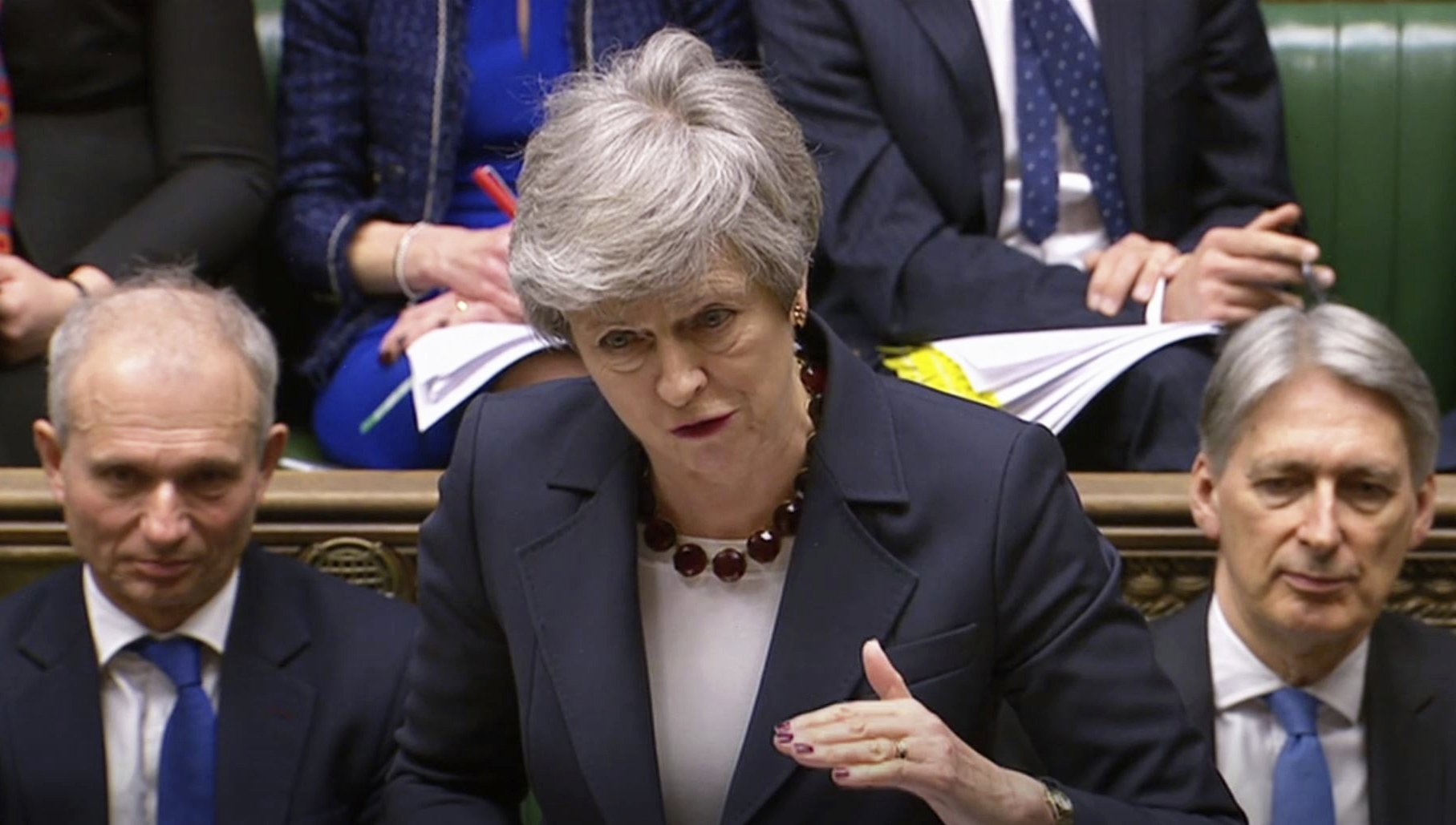 The Latest: May concedes desire for 'new leadership'