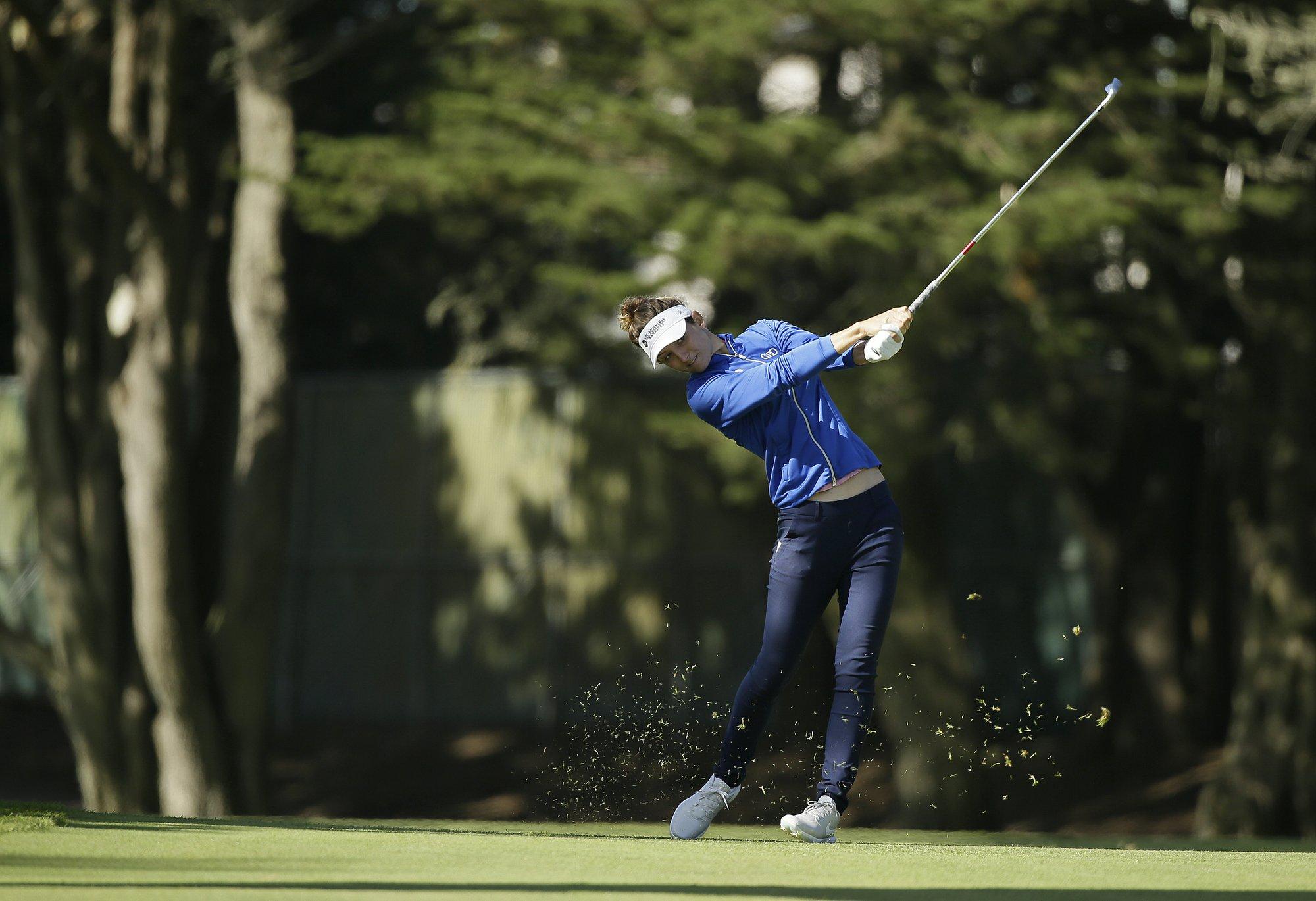 Van Dam, Ryu, Ji share LPGA Tour lead at Lake Merced