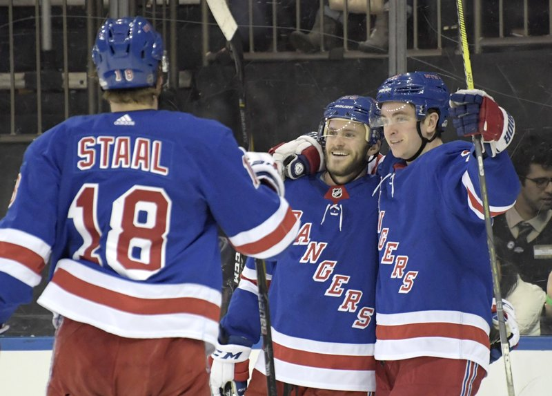 Paul Carey, Jimmy Vesey, Marc Staal