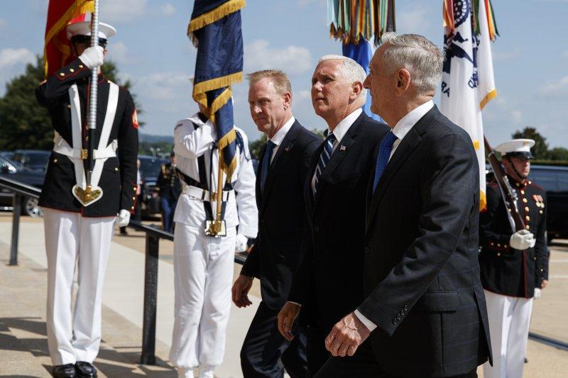 Mike Pence, Jim Mattis, Pat Shanahan