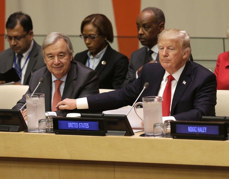 Donald Trump, Antonio Guterres