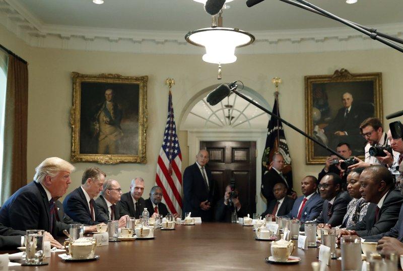 Donald Trump, Uhuru Kenyatta, Robert Lighthizer