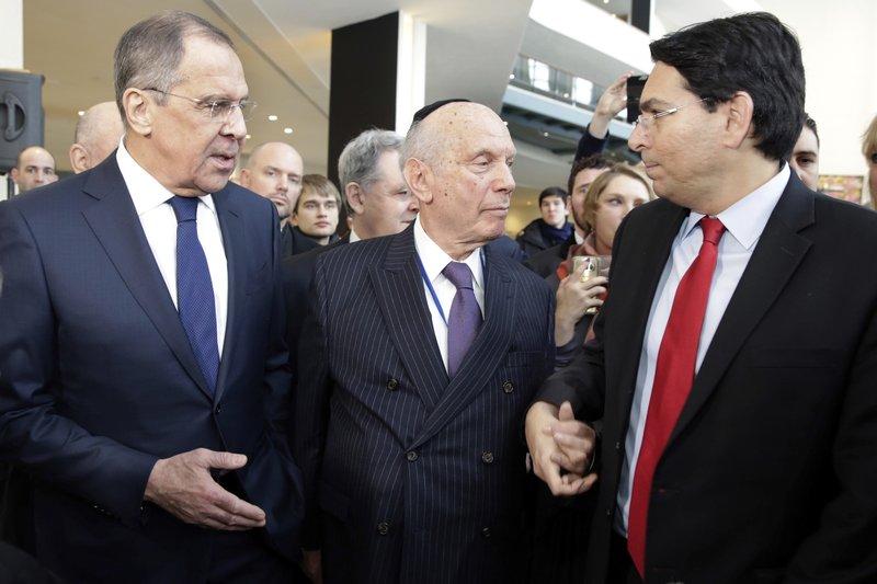 Sergei Lavrov, Arthur Schneier, Danny Danon