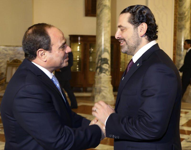 Abdel-Fattah el-Sissi, Saad Hariri