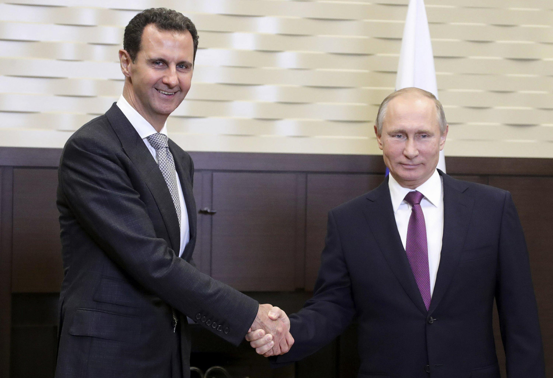 Image result for Putin, assad, photos