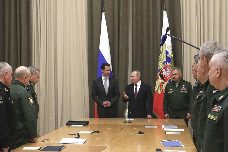 Sergei Shoigu, Vladimir Putin, Bashar Assad
