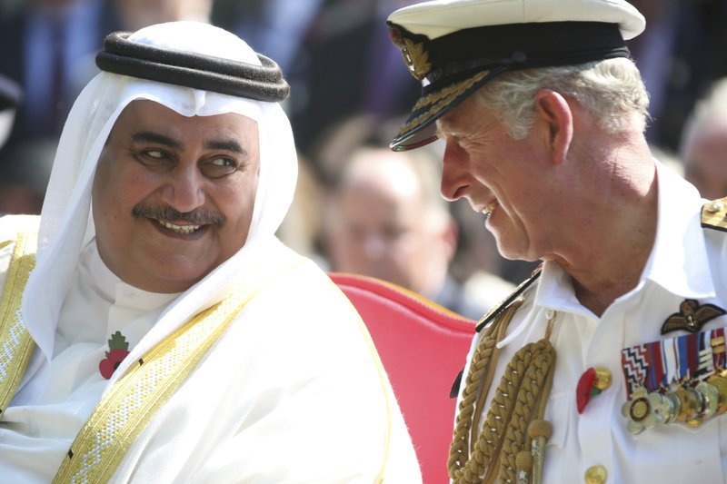 Prince Charles, Khalid bin Ahmed Al Khalifa