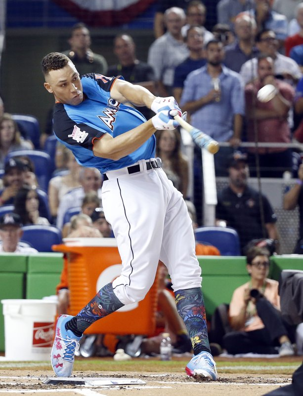 0191b2ad290 Aaron Judge. New York Yankees  Aaron Judge competes in the MLB baseball All-Star  Home Run Derby ...