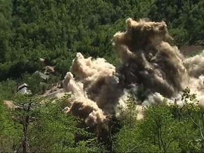 Explosions: North Korea Demolishes Nuclear Site