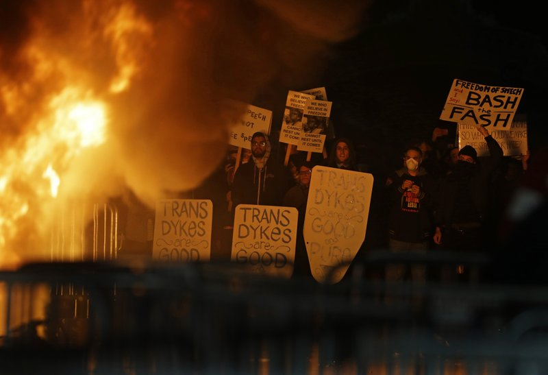 Image result for Riot Forces Cancellation Of Yiannopoulos Talk At UC Berkeley