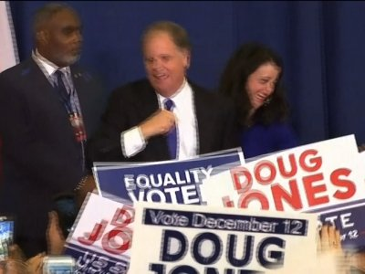 Raw: Democrat Doug Jones Celebrates Alabama Win