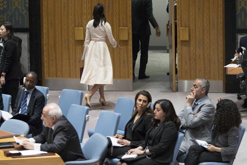 Nikki Haley, Riyad Mansour