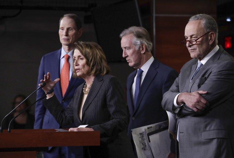 Nancy Pelosi, Chuck Schumer, Richard Neal, Ron Wyden