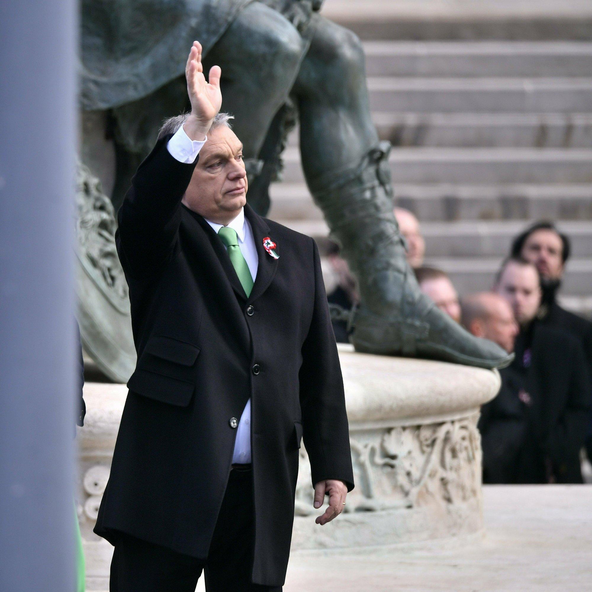 The Latest: EU Parliament bloc suspends Hungary's Fidesz