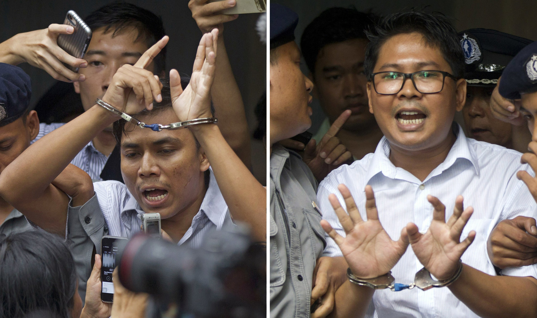 Myanmar court sentences Reuters reporters to 7 years in jail
