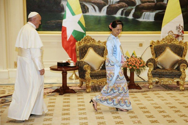 Pope Francis, Aung San Suu Kyi